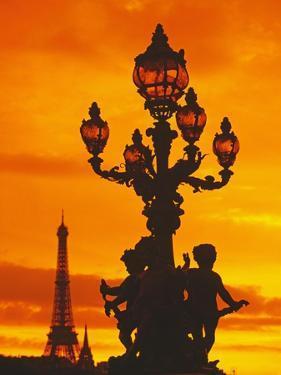 Street Light on Pont Alexandre III at Sunset by Murat Taner