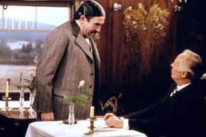 MURDER ON THE ORIENT EXPRESS, 1974 directed by SIDNEY LUMET Albert Finney and Richard Widmark (phot