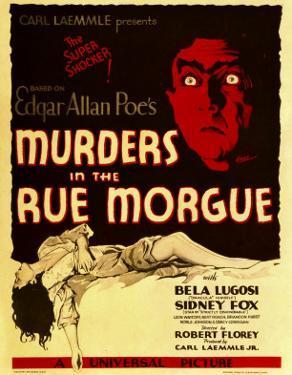 Murders in the Rue Morgue, Bela Lugosi on Window Card, 1932