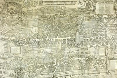 A View-Plan of Zurich, 1576 by Murer & Froschauer