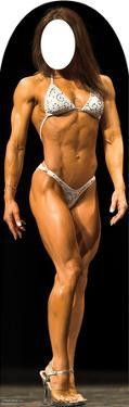 Muscle Woman Lifesize Stand-In