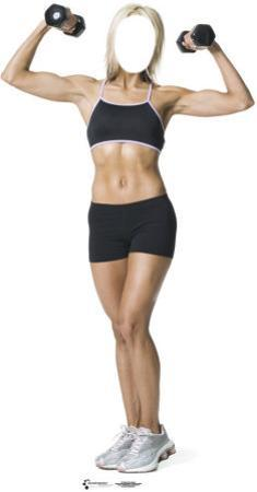 Muscle Woman Lifesize Standup