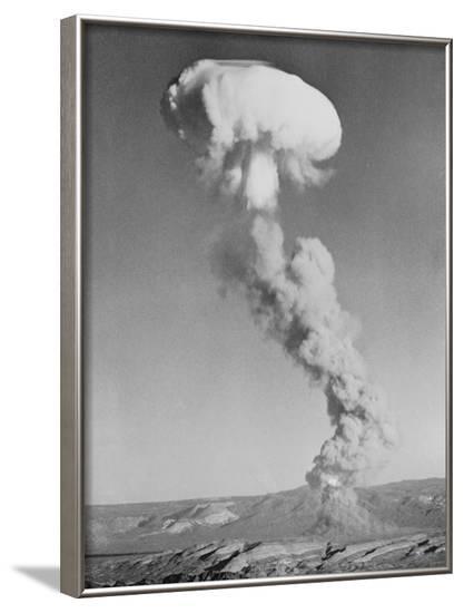 Mushroom Cloud Forming after Blast--Framed Photographic Print