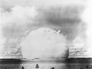 Mushroom Cloud from Baker Atomic Bomb Test