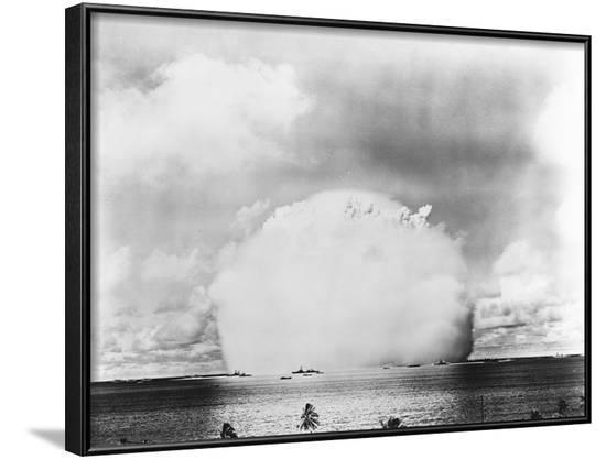 Mushroom Cloud from Baker Atomic Bomb Test--Framed Photographic Print