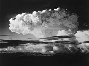 Mushroom Cloud from Nuclear Testing in the Marshall Islands