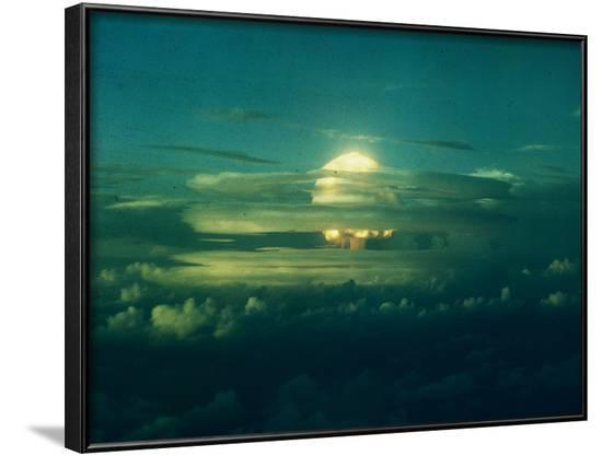 Mushroom Cloud from Nuclear Testing--Framed Photographic Print