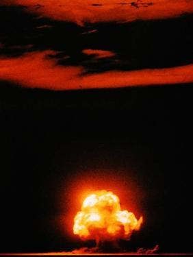Mushroom Cloud of the Trinity Test, the First Manmade Nuclear Explosion