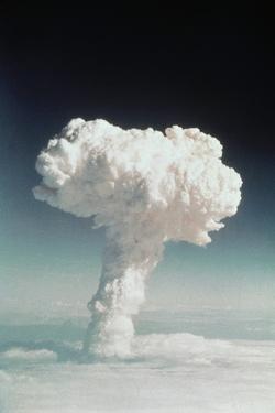 Mushroom Cloud Rising over Ocean