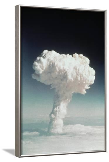 Mushroom Cloud Rising over Ocean--Framed Photographic Print