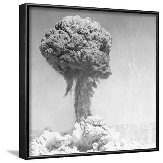 Mushroom Cloud--Framed Photographic Print