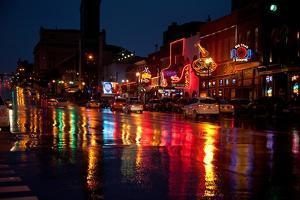 Music Bars at Night on Main Street in Nashville Tennessee