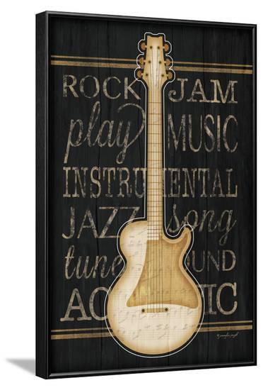 Music Guitar-Jennifer Pugh-Framed Art Print