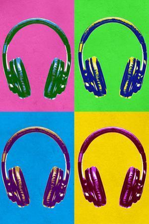 Music Headphones Pop Plastic Sign