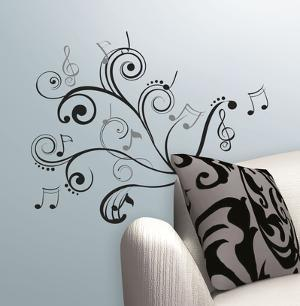 Music Scroll Notes Peel & Stick Wall Decals