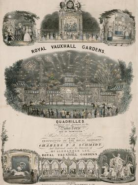 Musical Score for Royal Vauxhall Gardens Quadrilles by Charles F a Schmidt