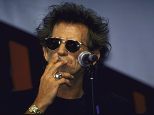 Musician Keith Richards Smoking Cigarette