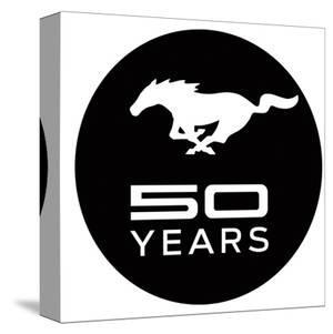 Mustang 50 Years Black Logo