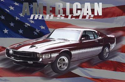Mustang GT 350 (American Muscle, Huge) Art Poster Print