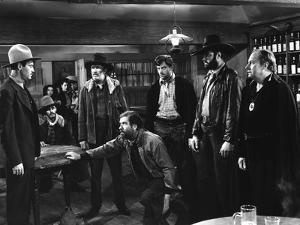 MY DARLING CLEMENTINE, 1946 directed by JOHN FORD Henry Fonda, Walter Brennan and John Ireland (b/w