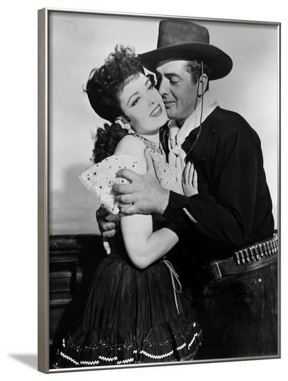 MY DARLING CLEMENTINE, 1946 directed by JOHN FORD Linda Darnell and Victor Mature (b/w photo)--Framed Photo