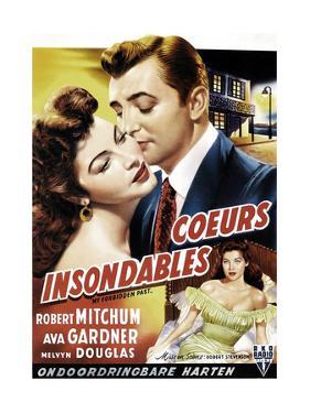 My Forbidden Past, from Left, Ava Gardner, Robert Mitchum, 1951