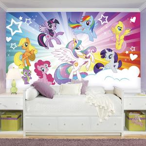 My Little Pony Cloud XL Chair Rail Prepasted Mural