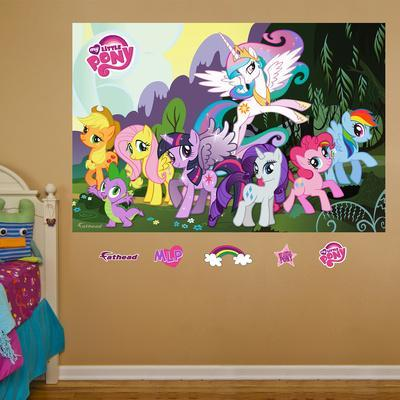Nice My Little Pony Mural. Wall Mural Part 17