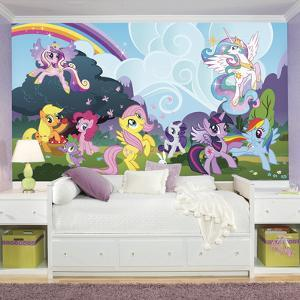 My Little Pony Ponyville XL Chair Rail Prepasted Mural