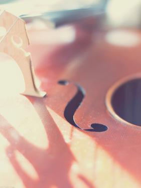 Cello Close Up by Myan Soffia
