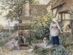 Cottage Well by Myles Birket Foster