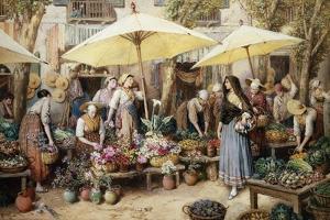 Toulon Market, France by Myles Birket Foster