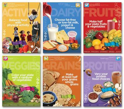 MyPlate Food Groups Poster Set