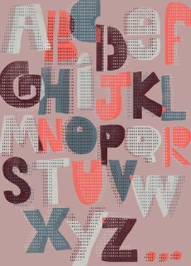 Offset Alphabet by Myriam Tebbakha