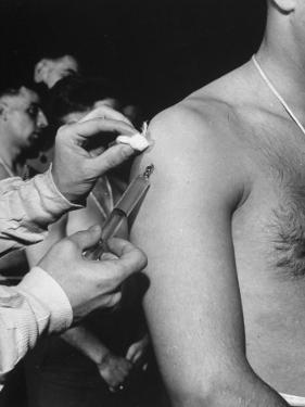 Army Medical Injections at Ft. Belvoir by Myron Davis