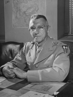 General Joseph W. Stilwell Posing for a Portrait by Myron Davis