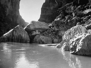 Mariscal Canyon, with Steep, Jagged Walls Rising Sharply from River, at Big Bend National Park by Myron Davis
