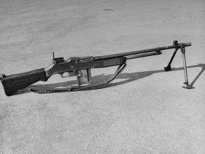 Side View of Browning Automatic Rifle by Myron Davis