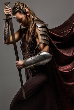 Mystic Elf WomanWith Sword
