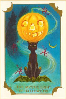 Mystic Light of Halloween, Jack O'Lantern on Black Cat