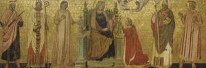 Mystic Marriage of Saint Catherine and Saints, 14th C