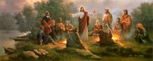 Jesus Spreading the Word by Myung Bo