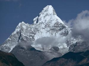 Snow Covered Mountain Peak, Ama Dablam, Himalayas, Nepal by N A Callow