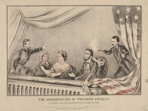 The Assassination of President Lincoln at Ford's Theatre, Washington, 1865 by N. and Ives Currier