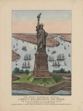 The Great Bartholdi Statue – Liberty Enlightening the World, 1885 by N. and Ives Currier