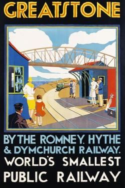 Greatstone - World's Smallest Public Railway Poster by N. Cramer Roberts