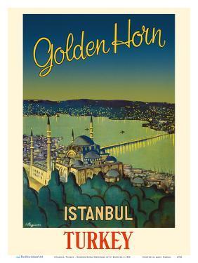 Istanbul, Turkey - Golden Horn Waterway - Mystique S�leymaniye Mosque by N. Erg?ver