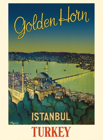 Istanbul, Turkey - Golden Horn Waterway - Mystique S?leymaniye Mosque by N. Erg?ver