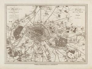 1805 Paris Map by N. Harbick