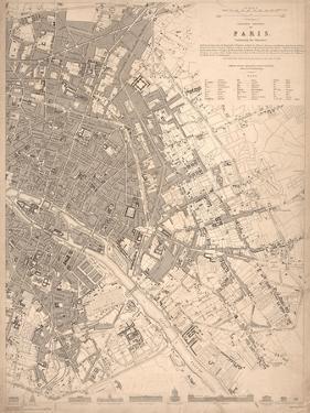 1833 Paris Map by N. Harbick
